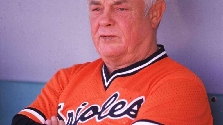 40264db89b7 Former Orioles manager Earl Weaver dies at 82. Earl Weaver of the Baltimore  Orioles watches from