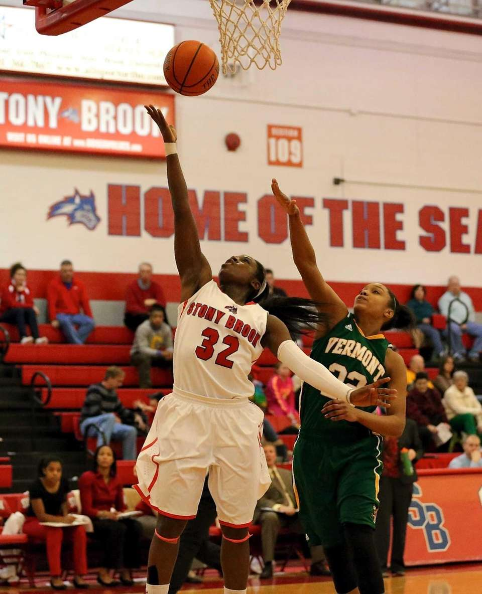 Stony Brook's Chikilra Goodman takes the steal in