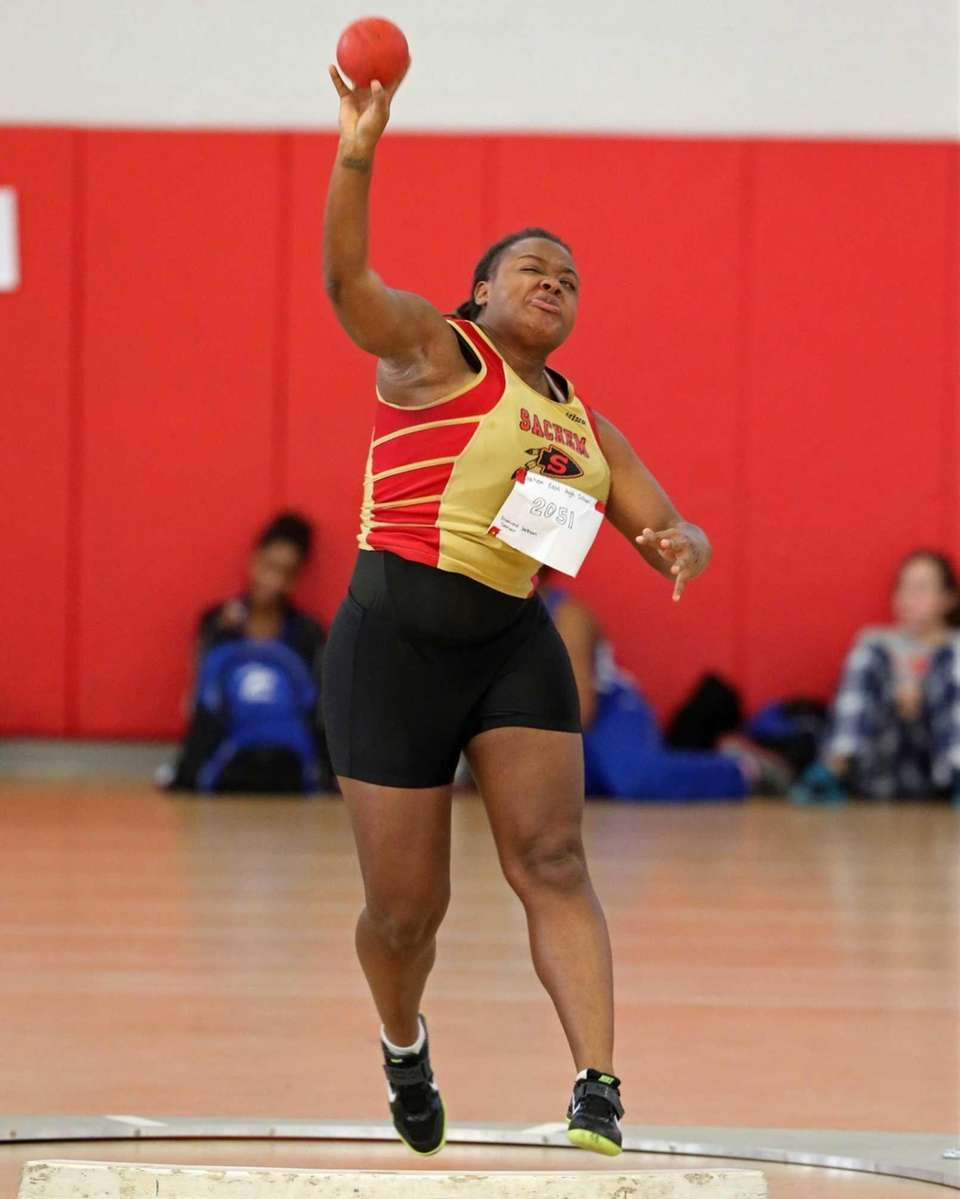 Sachem East's Diamond Jackson took first place in