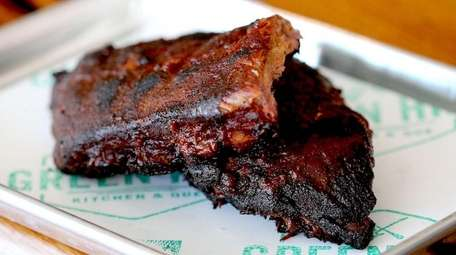 A half rack of ribs from Green Hill