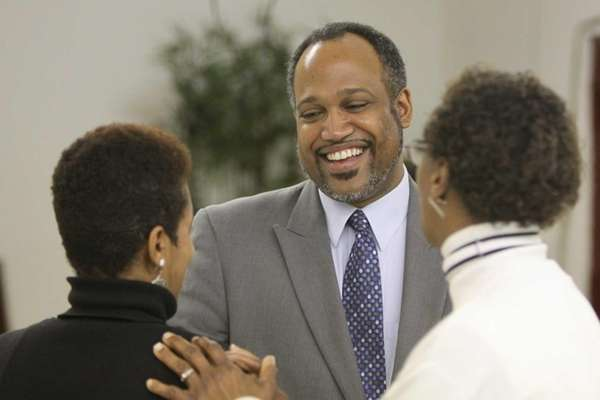Suffolk County Legislator DuWayne Gregory speaks with Janie