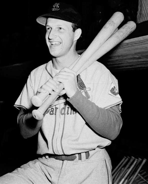"Stan ""The Man"" Musial poses in an undated"