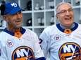 Islanders legends Bob Nystrom, left, and John Tonelli