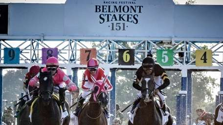 The start of the 151st Belmont Stakes with