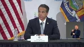 Gov. Andrew M. Cuomo talked about the latest coronavirus