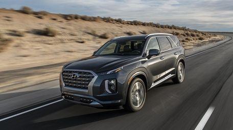 The Palisade, Hyundai's roomy, three-row SUV, rides high