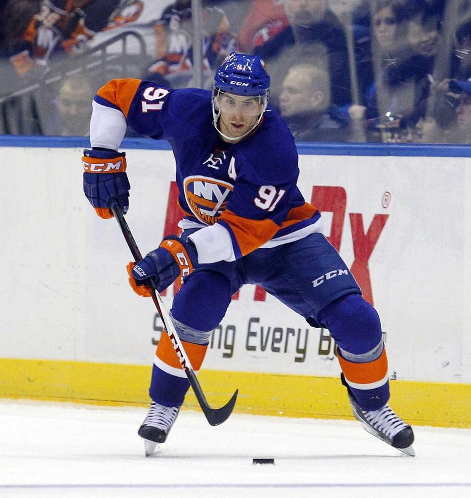 John Tavares of the New York Islanders skates