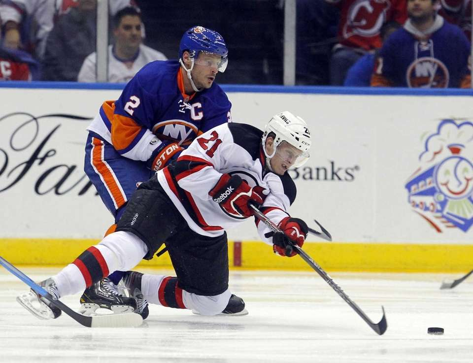 Tim Sestito of the New Jersey Devils plays
