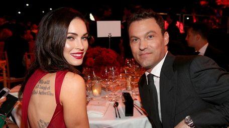 Megan Fox and husband Brian Austin Green, who