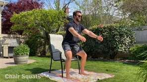CrossFit instructor Joey Adduci demonstrates a workout routine