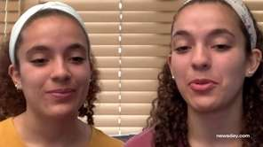 Identical twins Gianna and Rebecca Morales, 18, were
