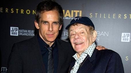 Actor-filmmaker Ben Stiller, left, says he has been