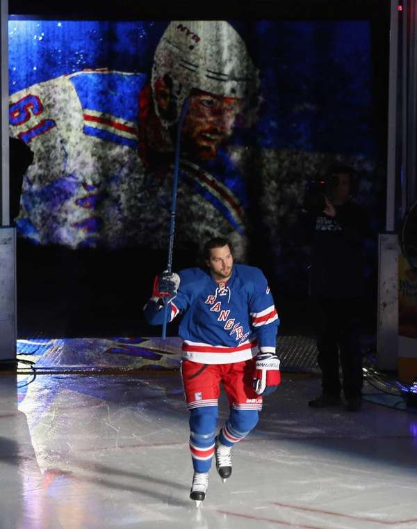 Rick Nash of the New York Rangers is