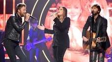 Lady Antebellum's Charles Kelley, left, Hillary Scott and