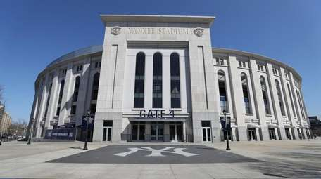 Yankee Stadium is empty on the scheduled date