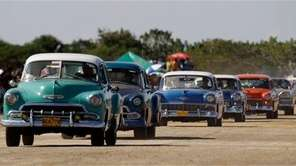 Drivers bring their classic cars to compete in