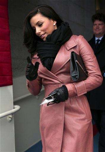 Eva Longoria arrives on the West Front of