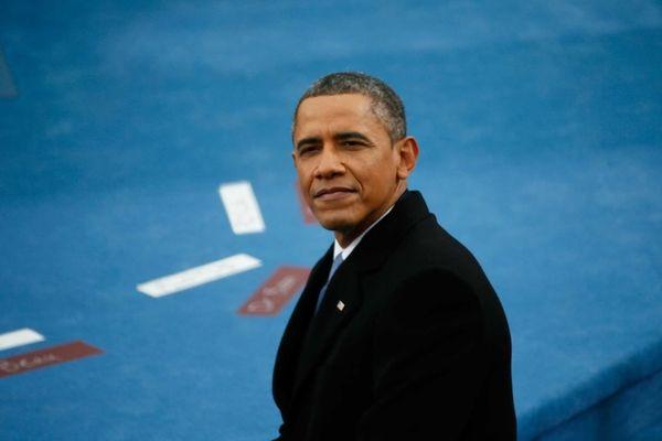 President Barack Obama looks on during the presidential