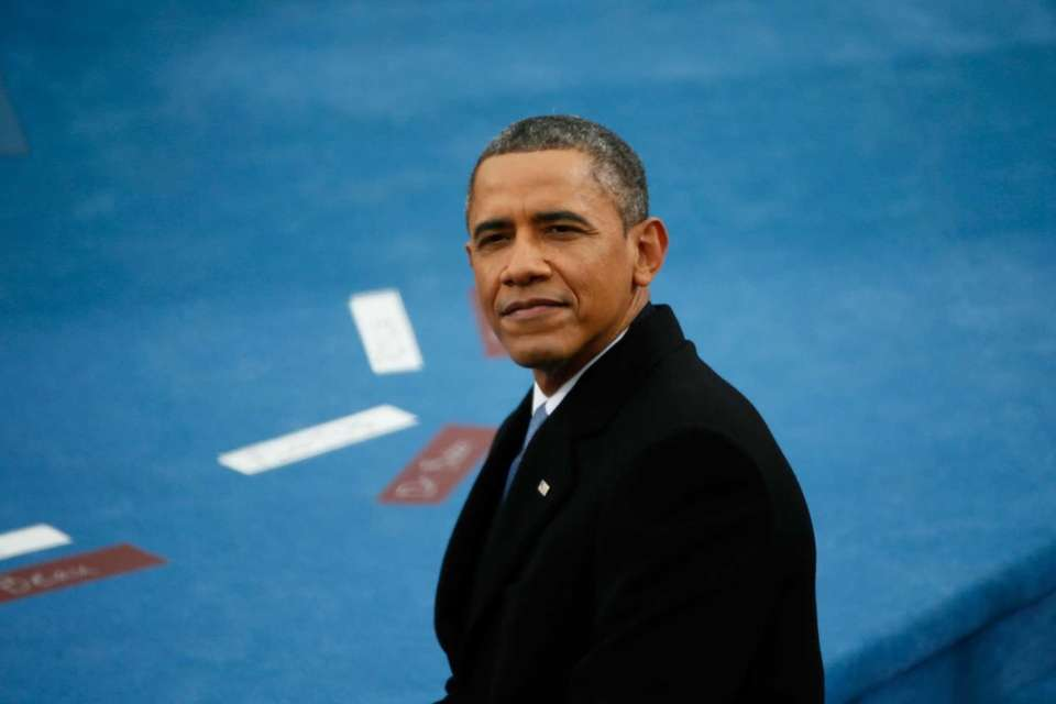 President Barack Obama looks on during the presidential