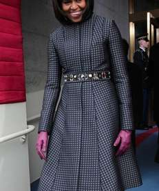 First lady Michelle Obama arrives during the presidential