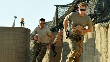 Britain's Prince Harry races out from the VHR
