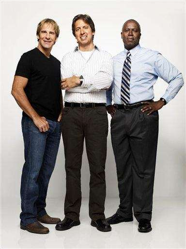 From left, Scott Bakula, Ray Romano and Andre