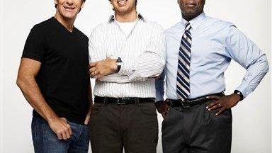 From left, Scott Bakula, Ray Romano and Andre