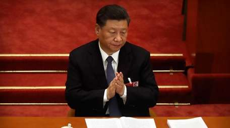 Chinese President Xi Jinping during the opening session