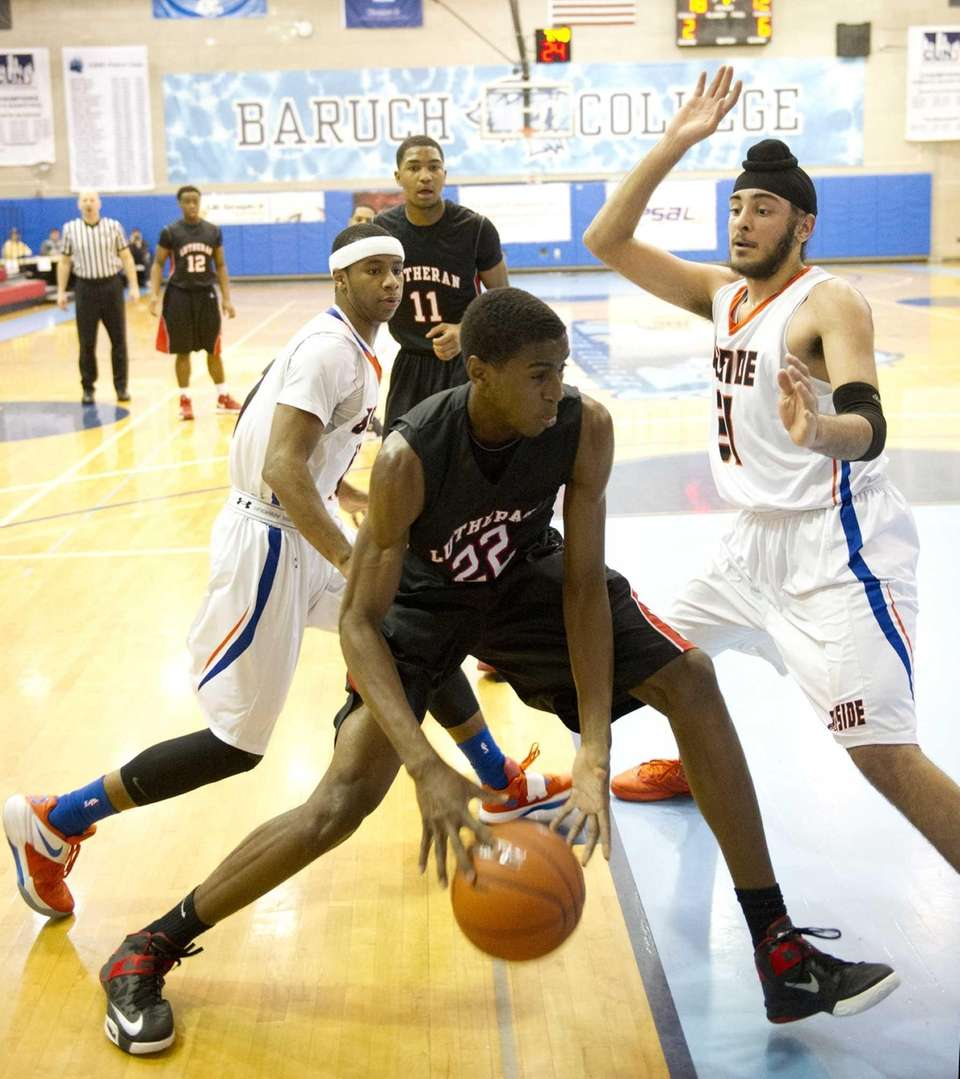 Kentan Facey of Long Island Lutheran drives to
