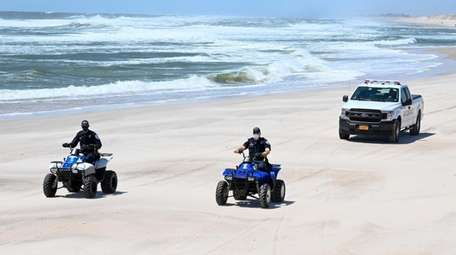 Southampton police officers on ATVs and a patrol