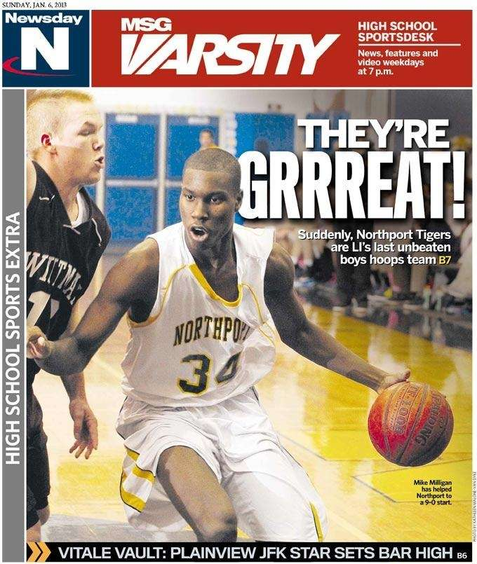 The Northport boys basketball team was featured on