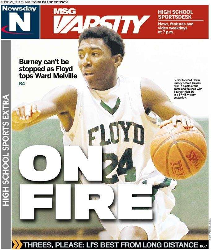 The Floyd boys basketball team was featured on