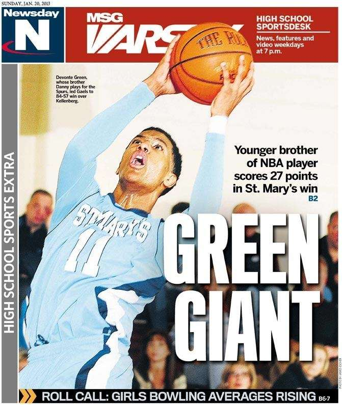 Devonte Green and the St. Mary's boys basketball