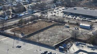 The former ballfield at Bethpage Community Park was