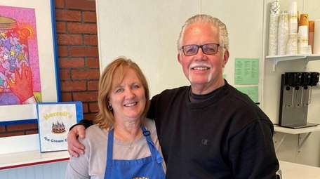 Cathy and Rick Meuser, co-owners of Herrell's Ice