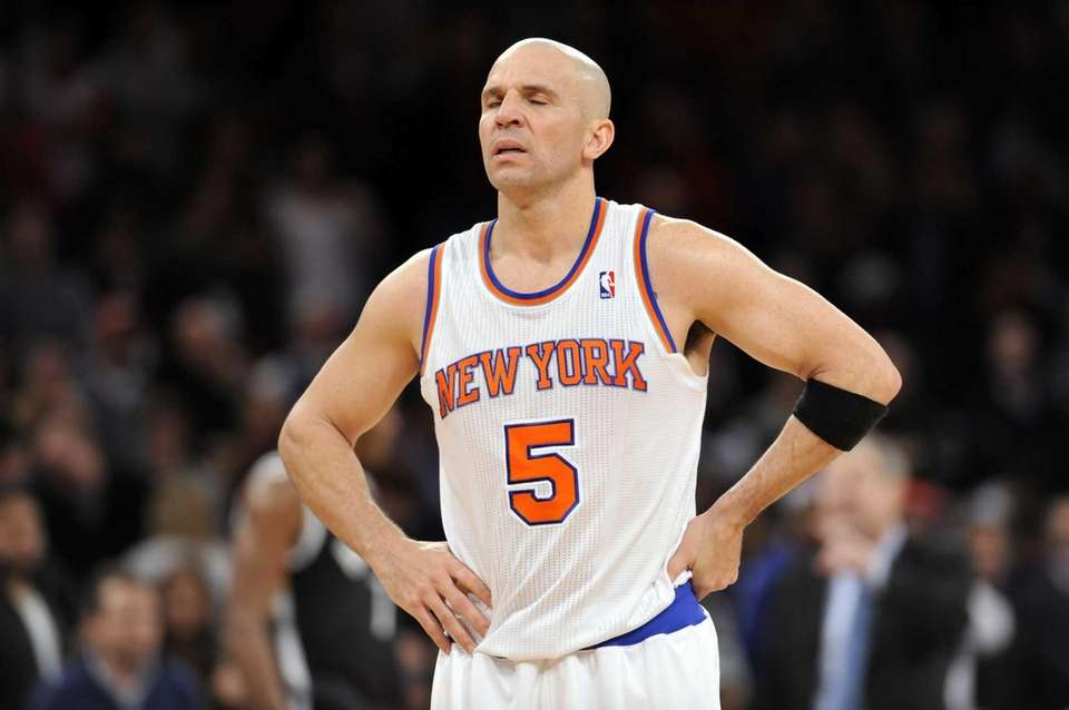 Jason Kidd reacts after the Knicks lose to