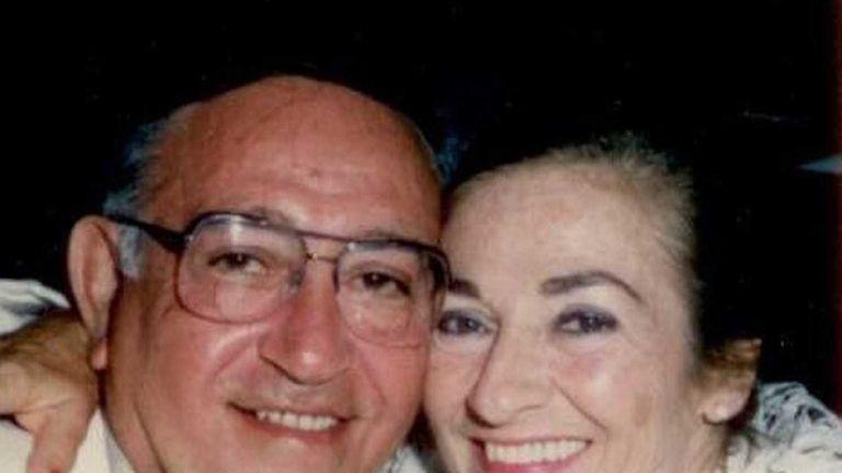 Anne Tatta with husband John in an undated