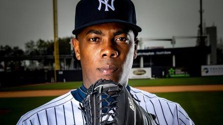 New York Yankees' LHP Aroldis Chapman during spring
