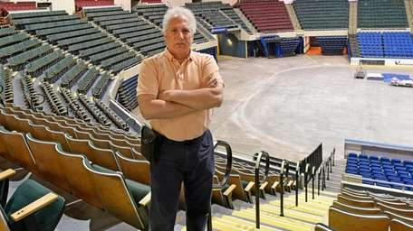 Dave Pokress stands in the spot at Nassau