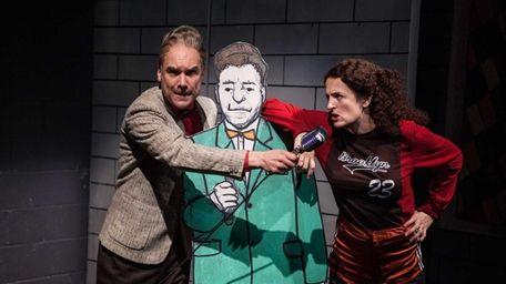 Greg Stuhr and Keira Naughton in Atlantic Theater's