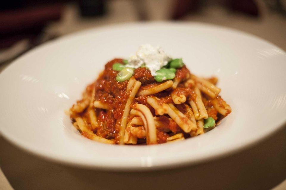 Among La Notte's top pastas is the husky