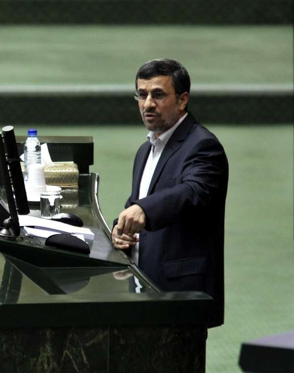 "Iranian President Mahmoud Ahmadinejad: ""Ten times more money"