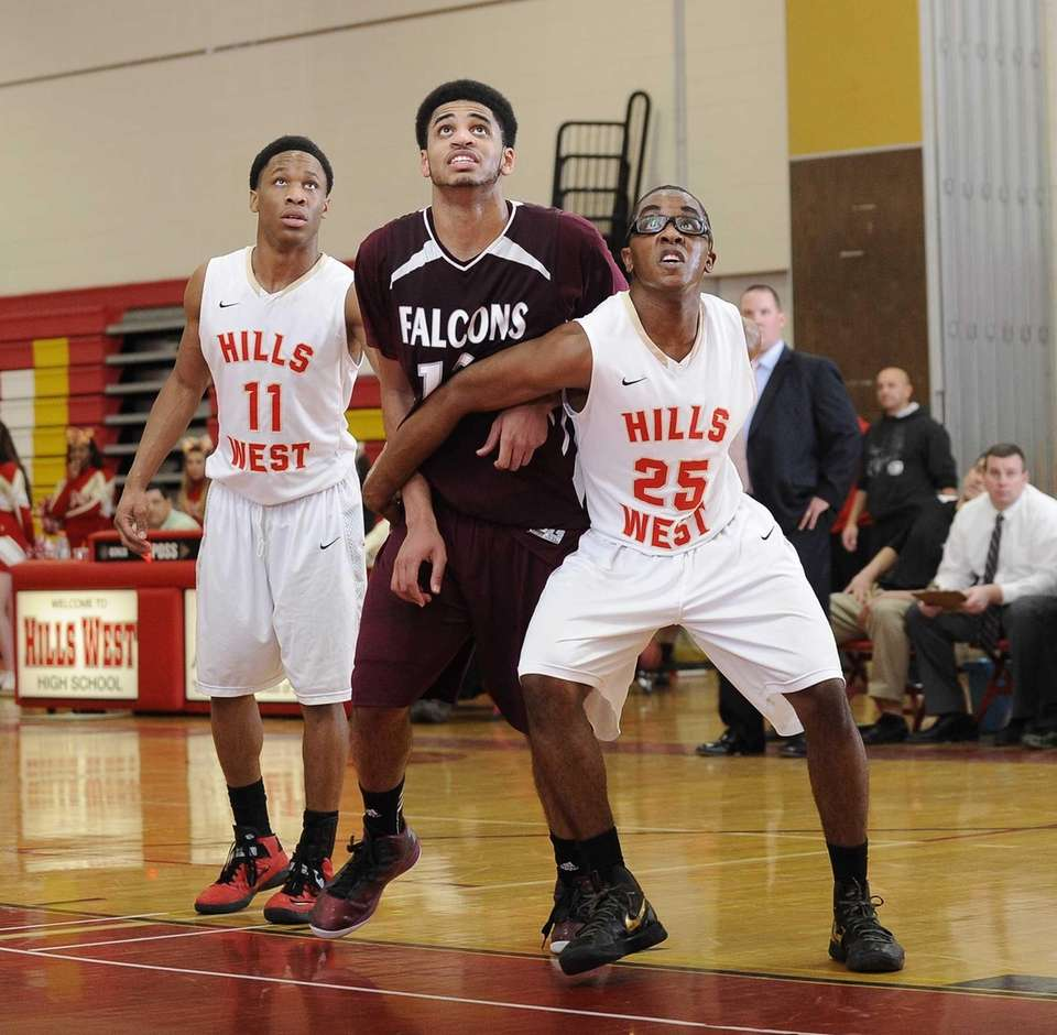 Deer Park's Rome Jenkins is boxed out by
