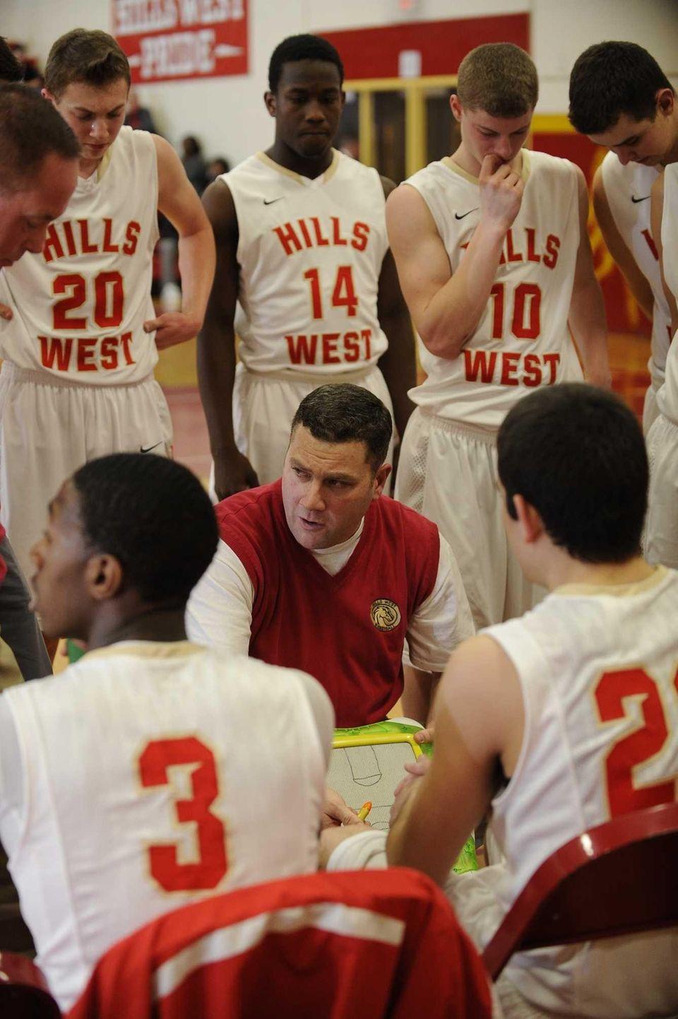 Half Hollow Hills West head coach Bill Mitaritonna