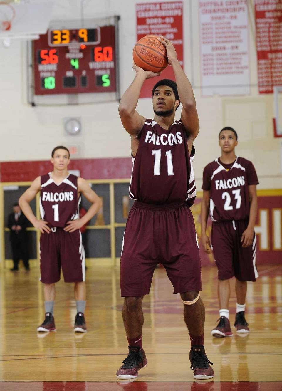 Deer Park's Carrel Joseph shoots a free throw