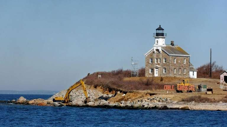 The Plum Island lighthouse. The 34-foot-tall lighthouse, completed