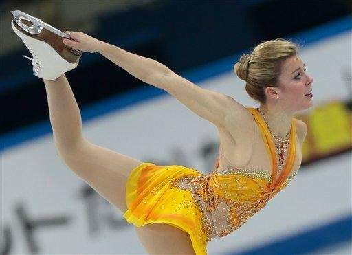 Ashley Wagner of the United States skates her