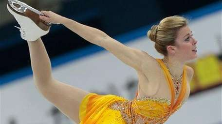 Ashley Wagner of the United States skates her
