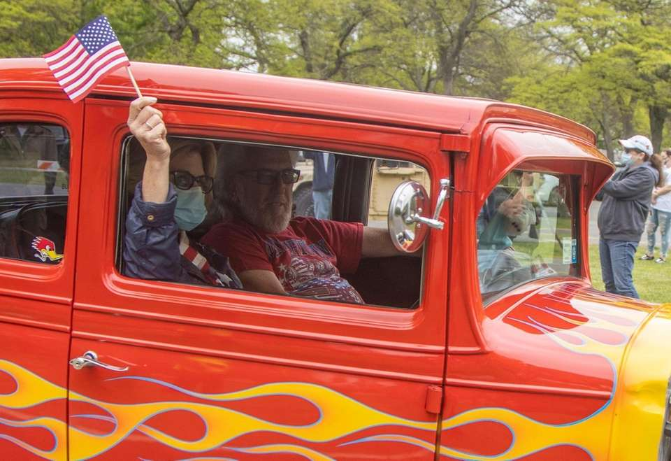The Nassau County Memorial Day celebration passes by
