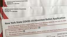 This is the application for an absentee ballot